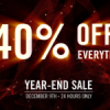 Red Giant Year End Sale. 40% Off EVERYTHING.
