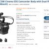 Big $5K Price Drop On Canon Cinema EOS C300 Plus C100 Gets 1K Instant Rebate