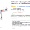 DJI Phantom 2 Quadcopter V2.0 Bundle with 3-Axis Zenmuse H3-3D Gimbal $683 Today Only