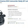 Canon Cinema EOS C300 Discontinued?