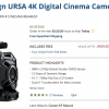 Blackmagic Design URSA 4K Price Drops to $3995 with $1K Instant Savings