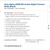 Sony Alpha a6000 Mirrorless Digital Camera $398 with $150 instant savings