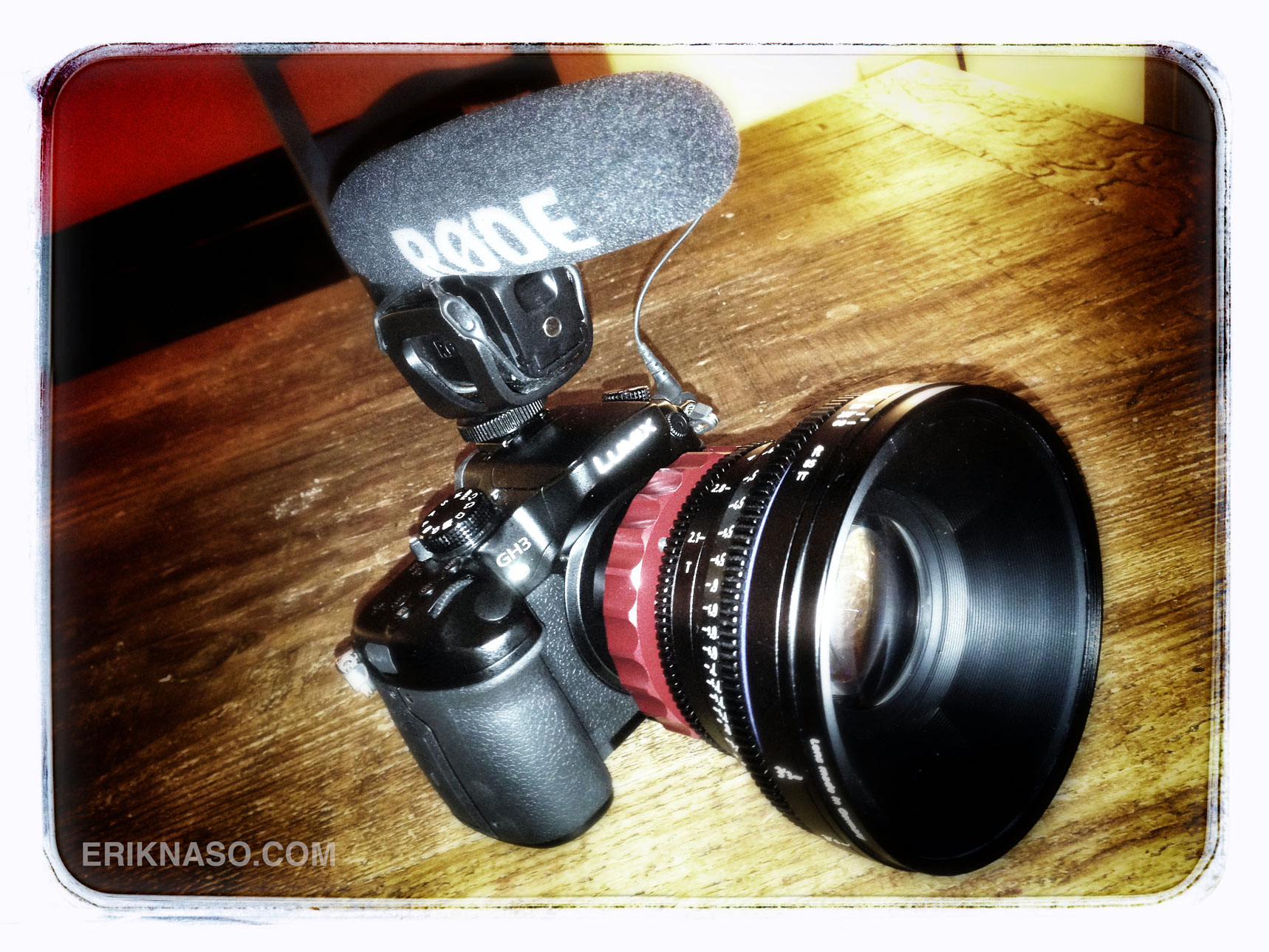 GH3 Tricked Out With A Zeiss 85mm CP.2 PL Mount