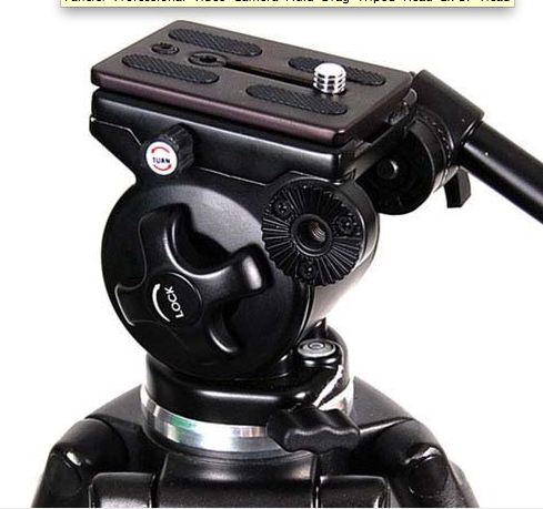 Fancier Professional Video Camera Fluid Drag Tripod Head EI717 Head