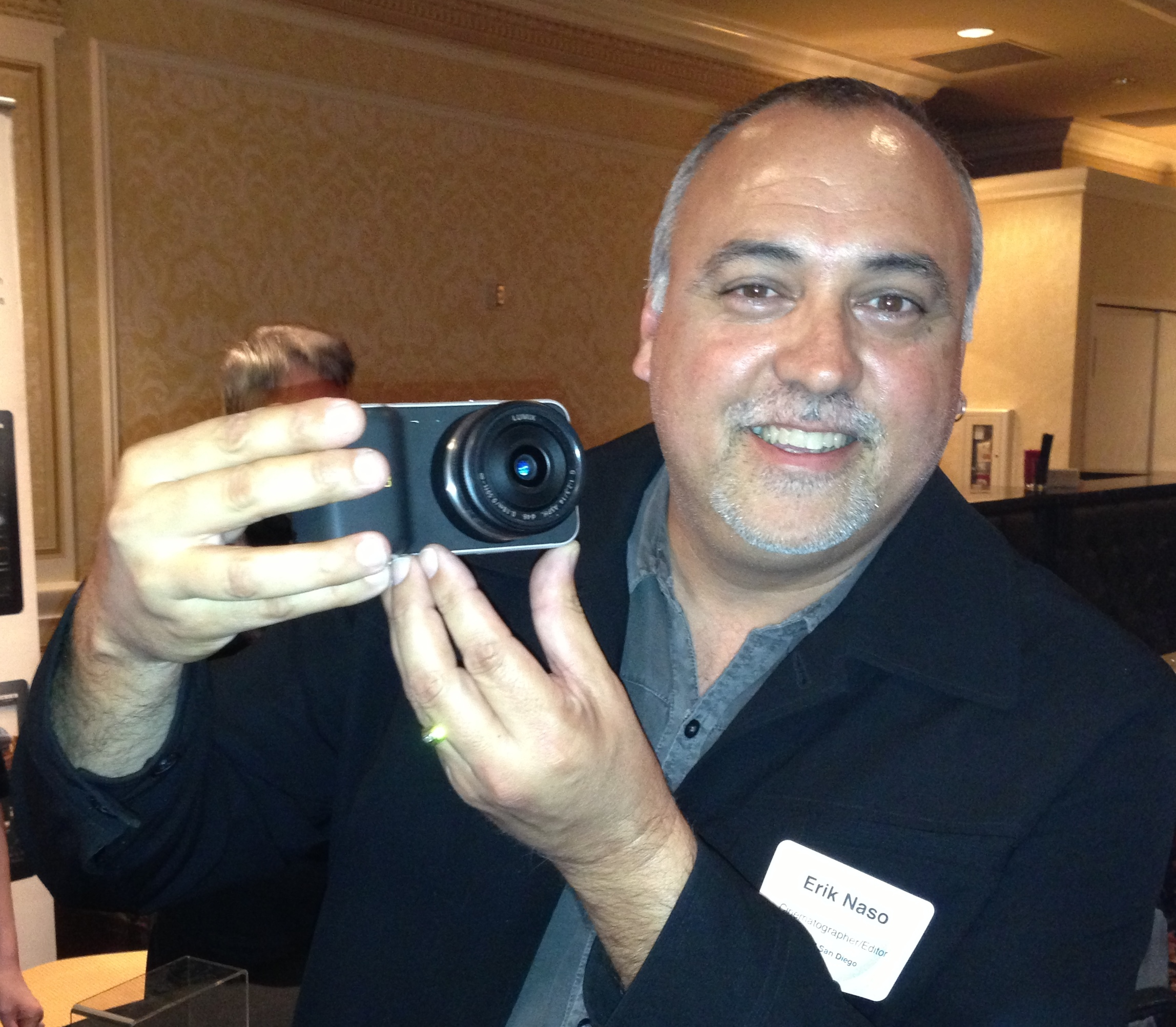 Me with the blackmagic pocket cinema camera at MediaMotion Ball