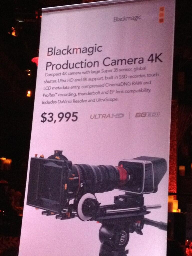 4K Global Shutter Blackmagic Camera |