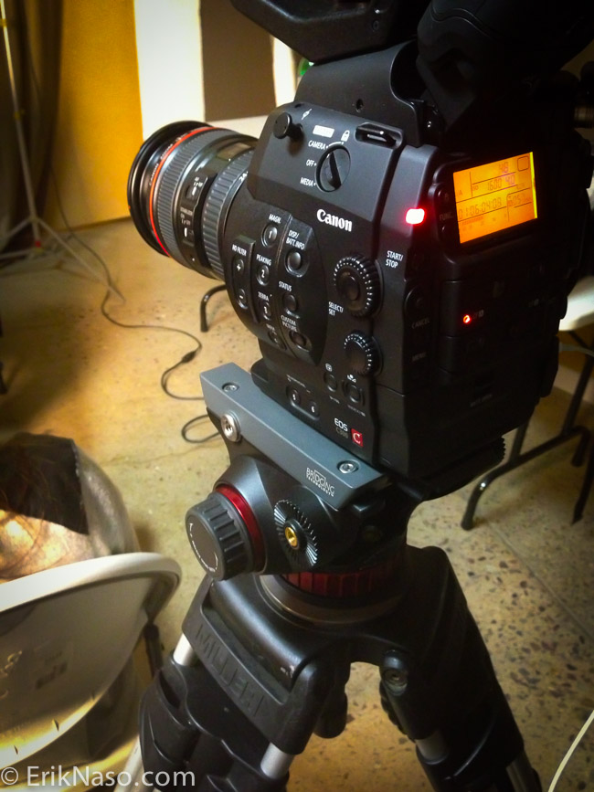 Using a C300 On Manfrotto 502HD For An Interview