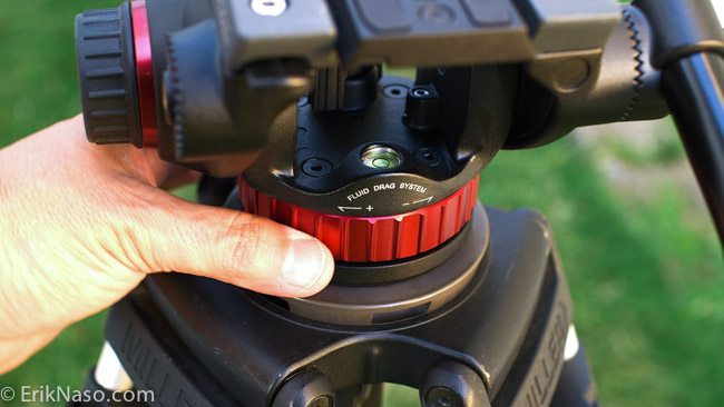 Manfrotto 502 pan drag control