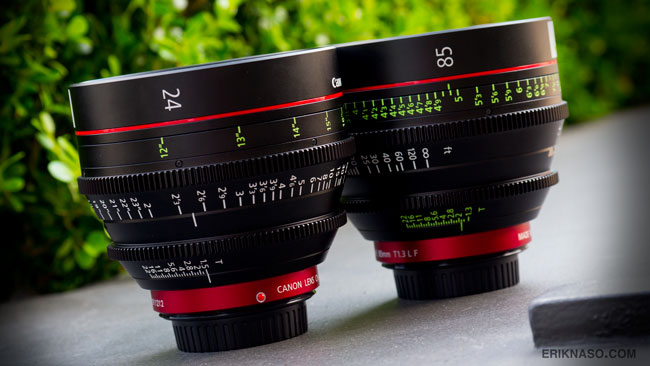 Canon Cinema Prime Lenses 24mm, 85mm