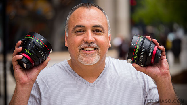 Me with a couple of Canon Cinema Primes