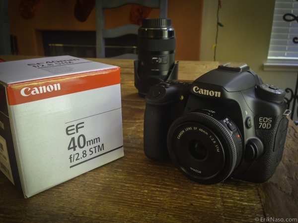 Canon 70D with 40mm