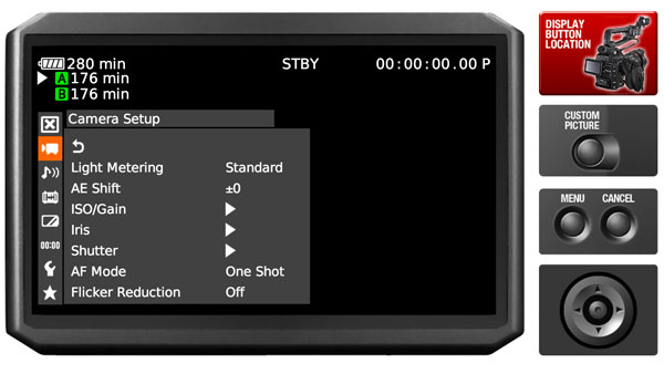 C100-menu-simlator