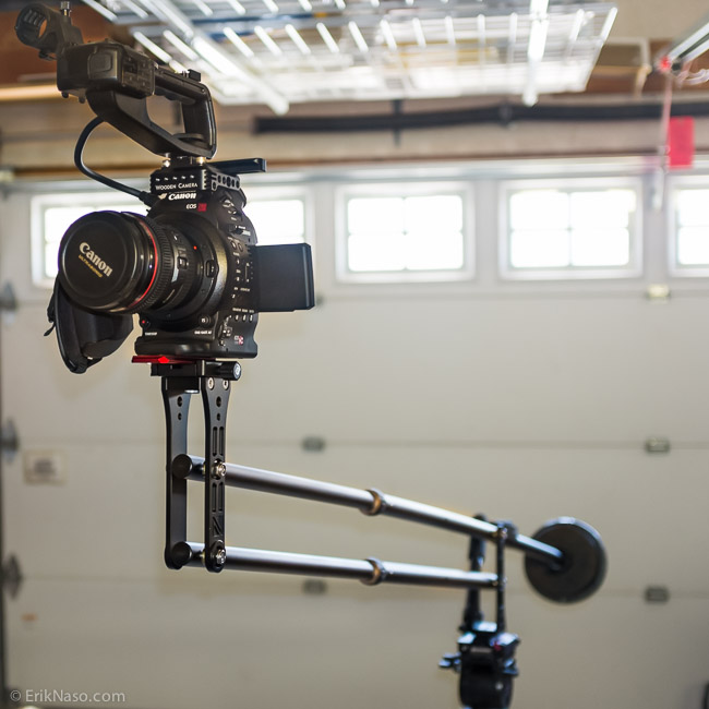 C100 on the GenusTech Mini Jib. Used 12.5lbs of counter weight