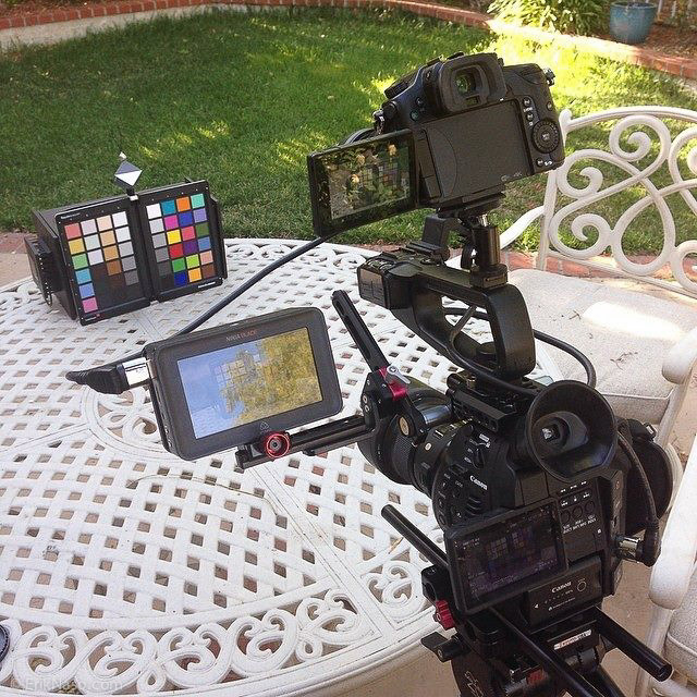 C100 and GH4 Stacked