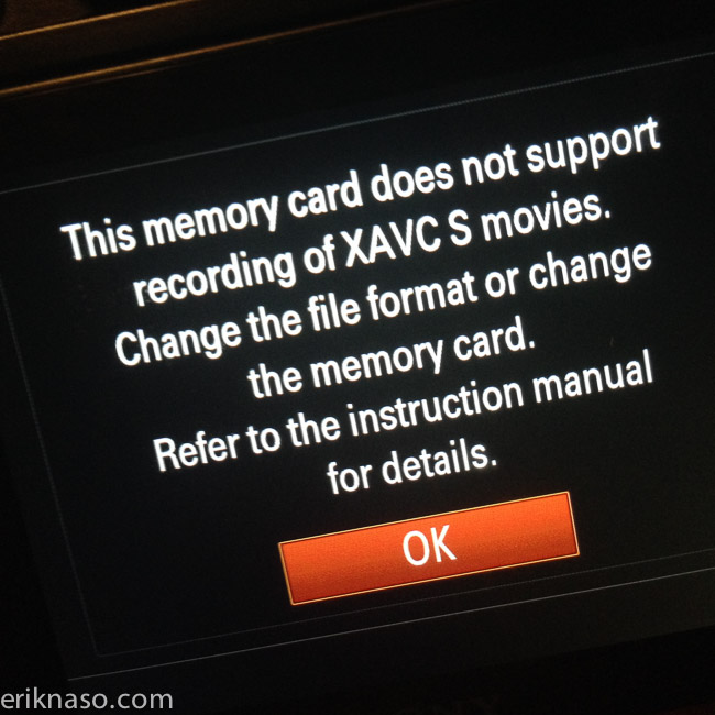 SanDisk SD Card WARNING