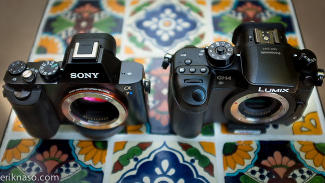 Sony A7s compared to the GH4