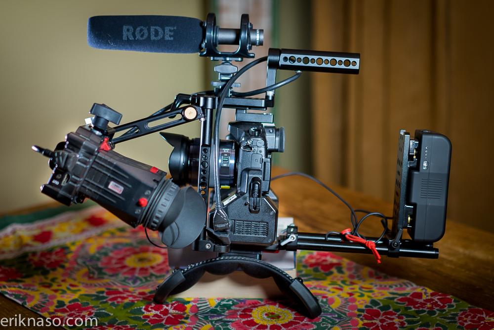 Wooden Camera GH4 Zacuto EVF Rig WM