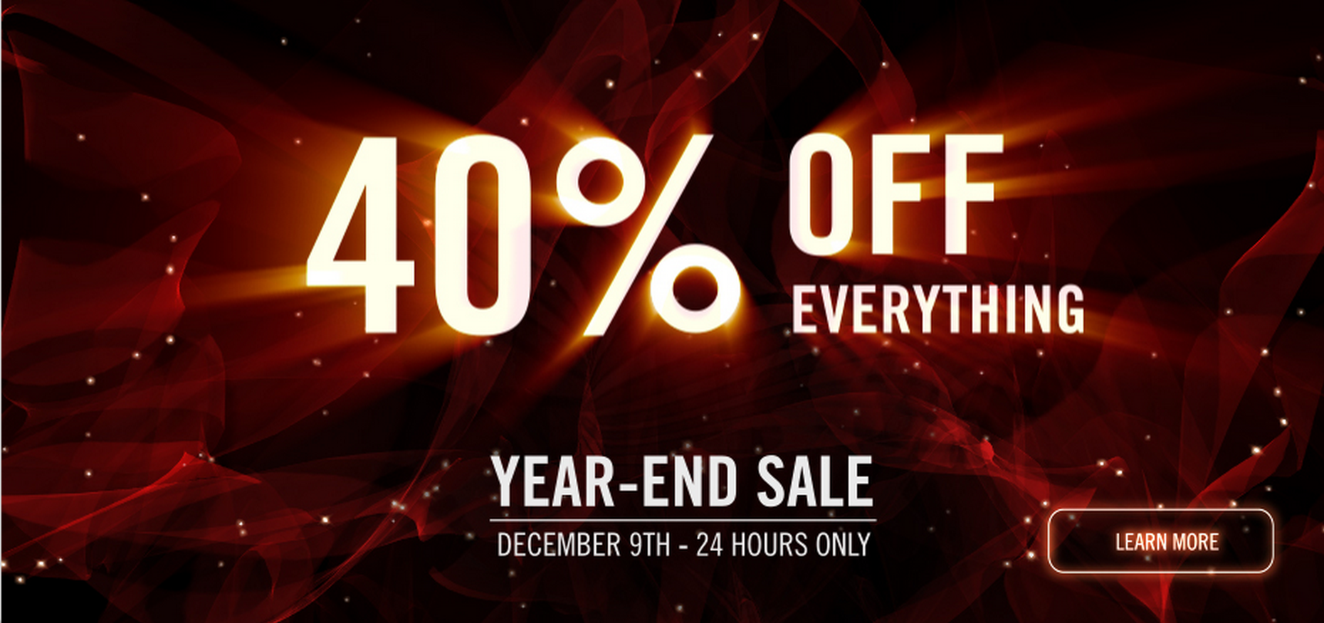 Red Giant Year End Sale 40 Off Everything
