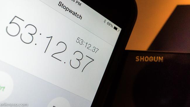 Shogun Battery Test total time