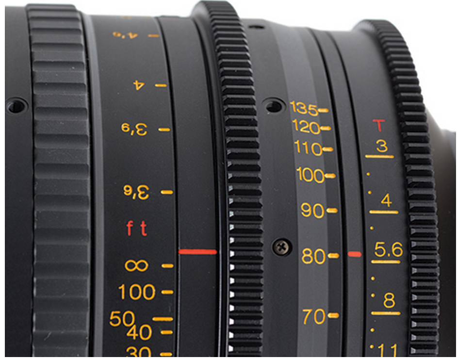 Tokina Cinema 50-135mm T3.0 with Canon EF Mount  Markings