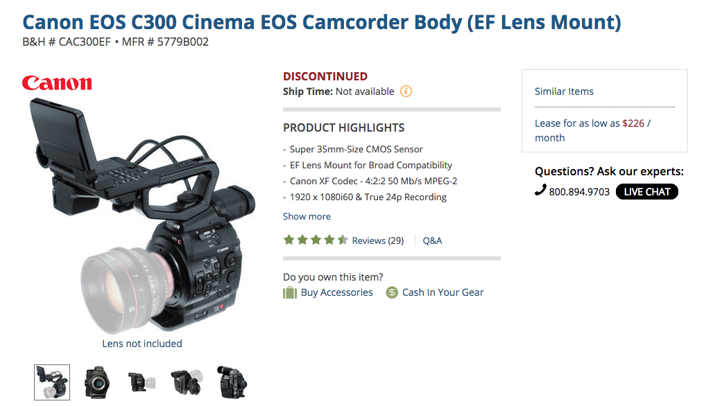 C300 Discontinued
