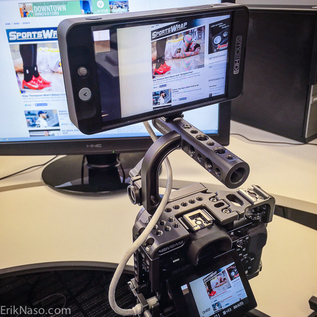 SmallHD 502_On A7s With Movcam