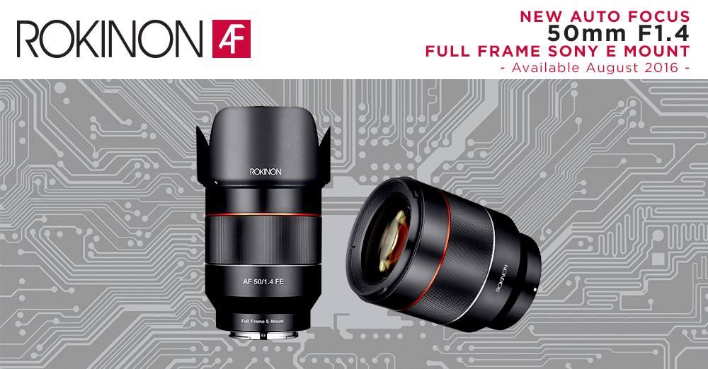 Rokinon Sony AF Lens