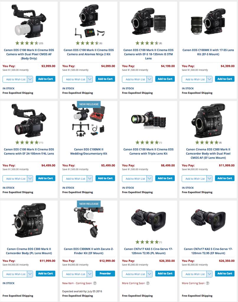Canon rebate sale.