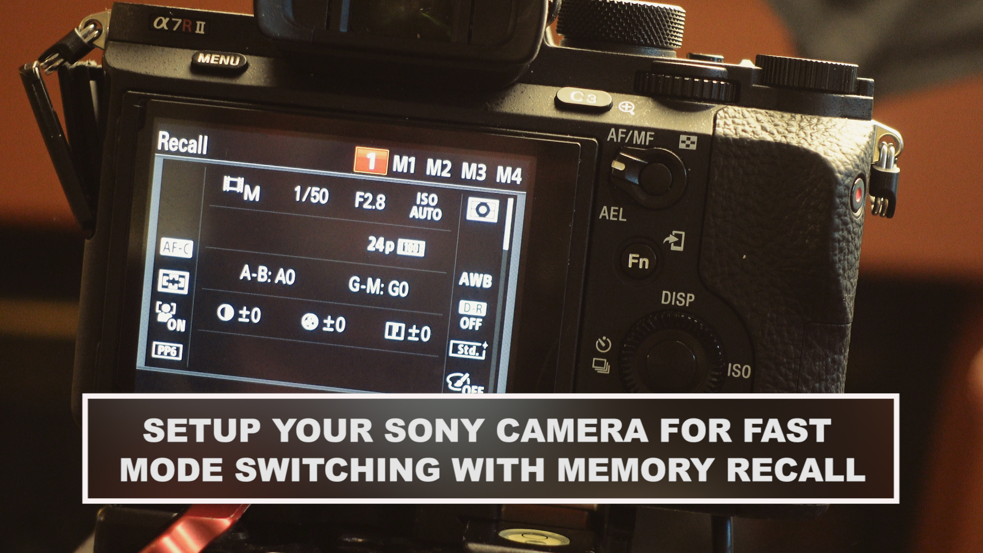 Sony Alpha Cameras: Go from Video to Stills Mode with Your Favorite Settings Faster
