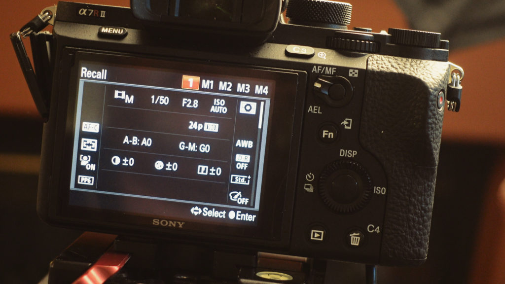 how to set up memory recall in rx100