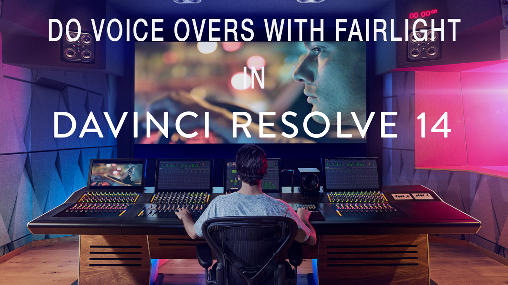 Do voice overs In DaVinci Resolve 14 Beta 5 with Fairlight  