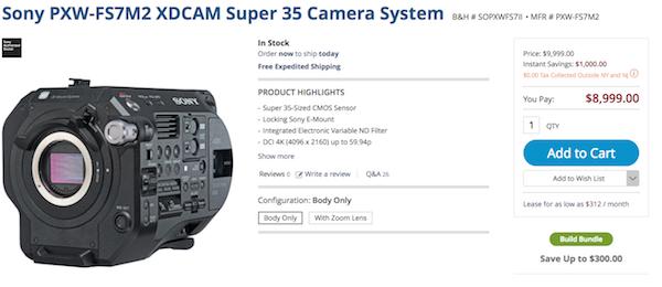 Sony FS7 M2 Sale Price