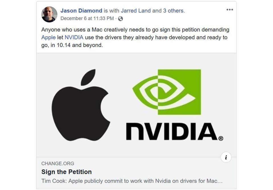 OSX Mojave DOES NOT support new Nvidia drivers  